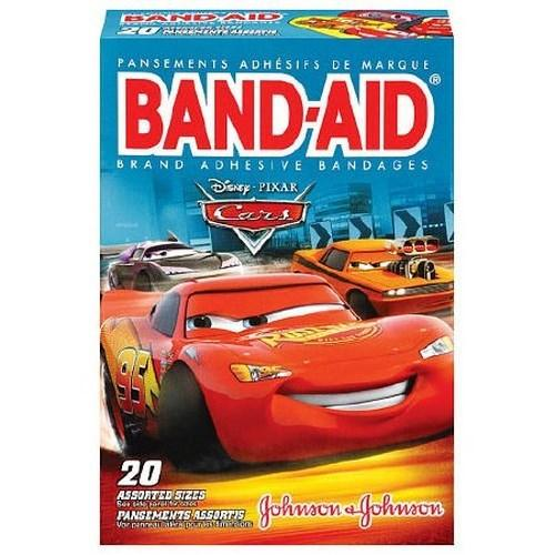 Adhesive Strip Band-Aid¨ Plastic Assorted Sizes Kid Design (Cars) Sterile 10381371171511 Box/20