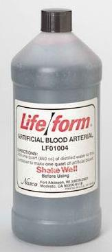 Artificial Arterial Blood Life/form LF01004U Each/1