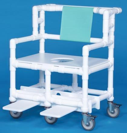 Bariatric Shower Chair ipu Fixed Arm PVC Frame Mesh Back 21.5 Inch BSC660 Each/1 - 60073309