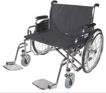 Bariatric Wheelchair Sentra EC Heavy Duty Extra Wide Extra Large Padded Removable Full Arm Spoke Black 30 Inch 700 lbs. STD30ECDFA Case/1 - 71224200