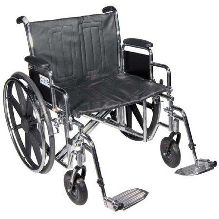 Bariatric Wheelchair Sentra EC Heavy Duty Padded Removable Full Arm Mag Black 22 Inch 450 lbs. STD22ECDFA-SF Each/1 - 18814209