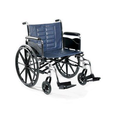 Bariatric Wheelchair Tracer IV Heavy Duty Padded Fixed Height Removable Full Arm Mag Midnight Blue 20 Inch 350 lbs. T420RFAP Each/1 - 42944209