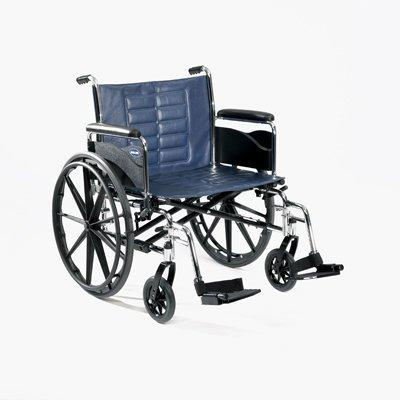 Bariatric Wheelchair Tracer IV Heavy Duty Padded Fixed Height Removable Full Arm Mag Midnight Blue 24 Inch 350 lbs. T424RFAP Each/1