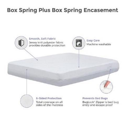 Bedding Encasement Protect-A-Bed¨ 18 X 76 X 80 Inch Knit Polyester For King Size Mattress BOB3008 Case/12