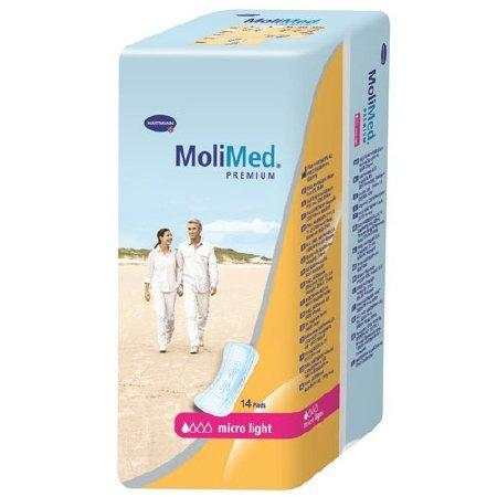 Bladder Control Pad MoliMed 8-1/2 Inch Length Light Absorbency Polymer Unisex Disposable 168132 Case/168