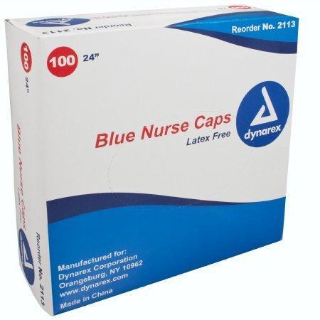 Bouffant Cap One Size Fits Most Blue Elastic 2113 Box/100