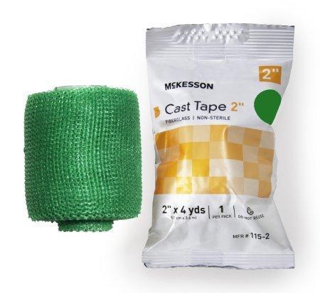 Cast Tape McKesson 2 Inch X 12 Foot Fiberglass Green 115-2G Box/10
