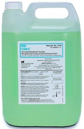 Cidex Dialdehyde High Level Disinfectant Activation Required Liquid 4.7 Liter Container Max 14 Day Reuse Characteristic Scent 2266 Each/1