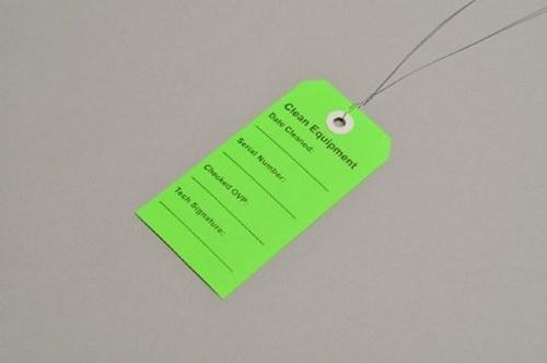 Clean Equipment Tag 2-5/16 X 4-3/4 Inch Green TCEG Case/500
