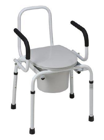 Commode Chair Drop Arm Steel Frame Lid 19 to 23 Inch 520-1213-1900 Each/1 - 52013319