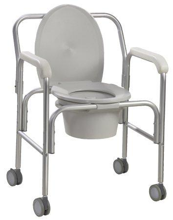 Commode Chair With Arms Aluminum Frame Reclining Back /Angled Back 18.75 Inch 11112-2 Case/2 - 11223309