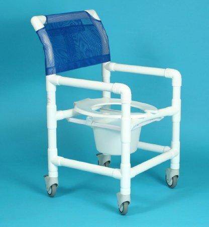Commode / Shower Chair 500 Series Deluxe Fixed Arm PVC Frame Curved Back 17 Inch 517 SX/MAUVE Each/1 - 51703310