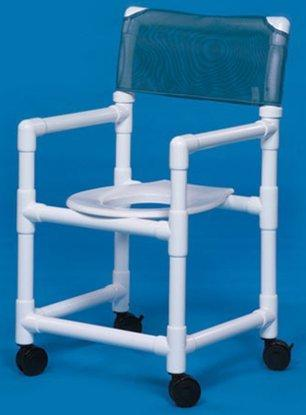 Commode / Shower Chair Standard Fixed Arm PVC Frame Mesh Back 20 Inch Clearance VL SC20 WINEBERRY Each/1