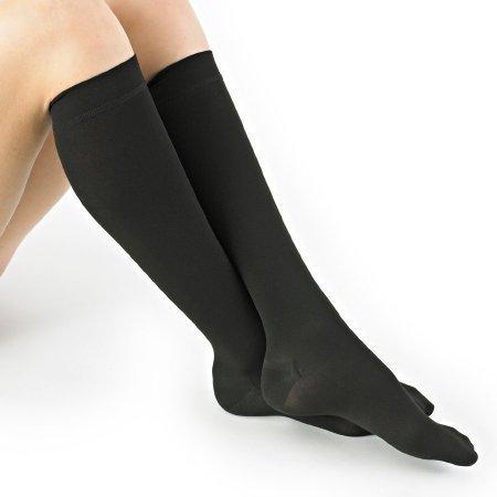 Compression Stockings Knee-high Medium Black Closed 1669 BLA MD Pair/1