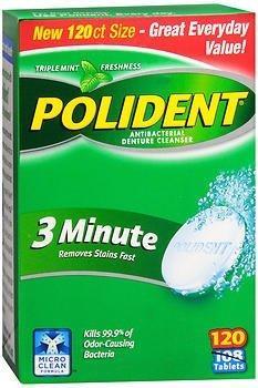 Denture Cleaner Polident Tablet 2230670 Box/120