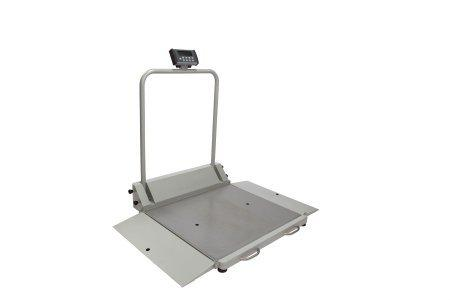 Digital Wheelchair Scale Health O Meter LCD Display 1000 lbs. Gray AC Adapter or 6 AA Battery Operated 2610KL Each/1