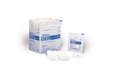 Drain Sponge Curity Gauze 4 X 4 Inch Square Sterile 6242P Case/600