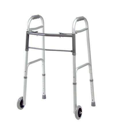 Dual Release Folding Walker Adult Lumex Aluminum 300 lbs. 34.5 to 41.5 Inch 616270A-4 Case/4