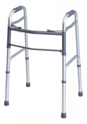 Dual Release Folding Walker Adult Lumex Everyday Aluminum 300 lbs. 32.25 to 39.25 Inch 716070A-4 Each/1