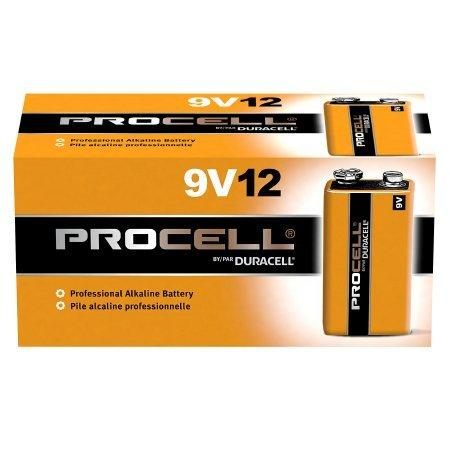 Duracell ProCell Alkaline Battery 9V Cell 9V Disposable 12 Pack PC1604 Box/12
