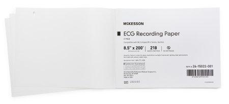 ECG Recording Paper McKesson 8-1/2 Inch X 200 Foot Z-Fold 26-15022-001 Case/2180