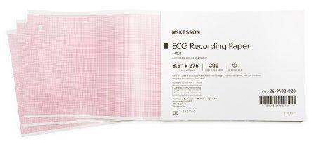 ECG Recording Paper McKesson 8-1/2 Inch X 275 Foot Z-Fold 26-9402-020 Pack/300