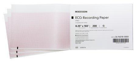 ECG Recording Paper McKesson 8-1/4 Inch X 183 Foot Z-Fold 26-94018-0000 Case/1000