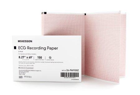 ECG Recording Paper McKesson 8.27 Inch X 69 Foot Z-Fold 26-PA9100Z Case/1500