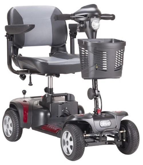 Electric Scooter PHOENIX HD 4 4 Wheel Black / Red or Blue (Interchangeable) PHOENIXHD4 Each/1