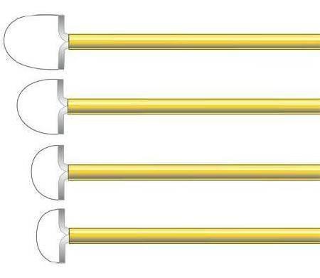 Electrode 2.0 X 0.8 cm, 12 cm Shaft Large Radius Loop R2008 Box/5
