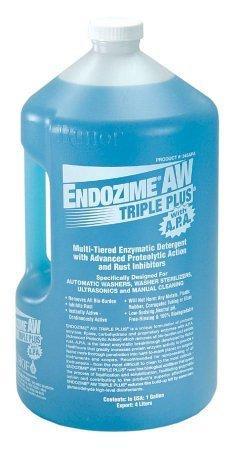 Endozime AW TRIPLE PLUS with APA Multi-Enzymatic Instrument Detergent Liquid 1 Gallon Jug Tropical Scent 34521-27 Case/4