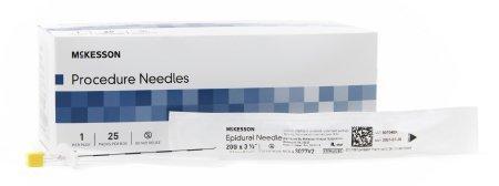 Epidural Needle McKesson Tuohy 20 Gauge 3.5 Inch 3077V2 Box/25