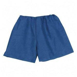 Exam Shorts Tidi X-Large Blue SMS NonWoven Fabric Adult Disposable 960402 Case/100