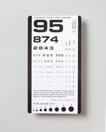 Eye Test Chart McKesson 14 Inch Pocket 63-3053 BG/5