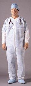 Fluid-Resistant Coverall Medi-Pak Performance Large White Disposable 82141200 Each/1