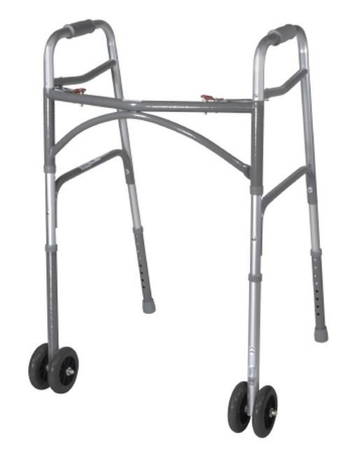 Folding Walker Adult McKesson Steel 500 lbs. 32 to 39 Inch 146-10220-2WW Case/2