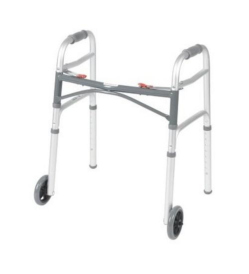 Folding Walker Junior McKesson Aluminum 350 lbs. 25 to 32.25 Inch 146-10211-4 Case/4