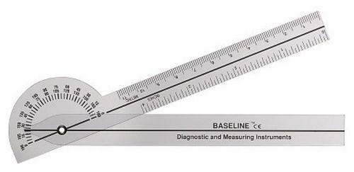 Goniometer Baseline¨ 0 - 180 Degree Inches and Centimeters 5 Inch 12-1005 Each/1
