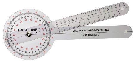 Goniometer Baseline 0 - 360 Degree Head with Three ISOM Scales Inches and Centimeters 12 Inch 12-1000 Each/1