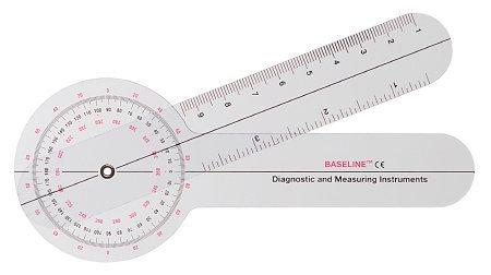 Goniometer Baseline 0 - 360 Degree Head with Three ISOM Scales Inches and Centimeters 6 Inch 12-1002 Each/1
