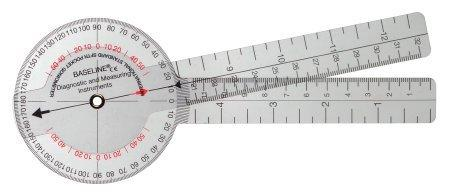 Goniometer Baseline 0 - 360 Degree Head with Three ISOM Scales Inches and Centimeters 8 Inch 121001 Each/1