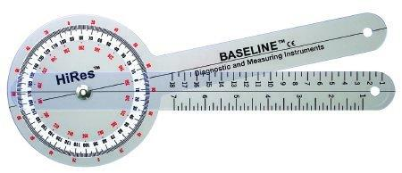 Goniometer Baseline HiRes 1° Increments Inches and Centimeters 8 Inch 121001HR Each/1
