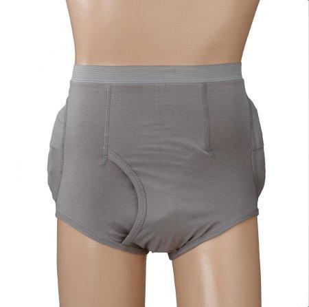 Hip Protection Brief Community Hipsters Medium Grey Male 6031M Each/1 - 60313239