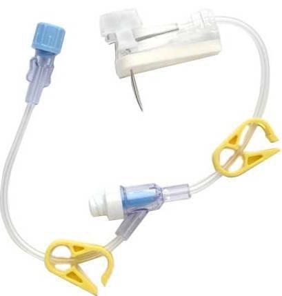 Huber Infusion Set Gripper Plus 20 Gauge 1.25 Inch 8 Inch Tubing Split Septum Y-Site Port 21-2867-24 Box/12