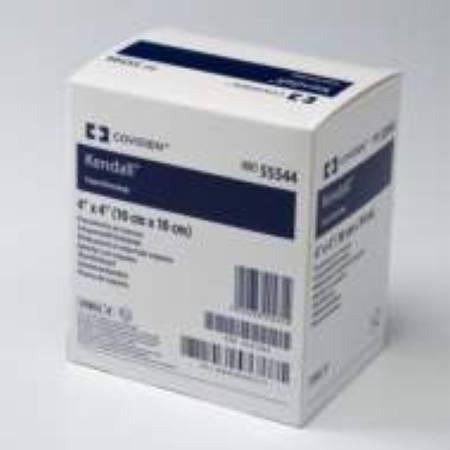Impregnated Foam Dressing Kendall AMD 3.5 X 3 Inch Hydrophilic Polyurethane Foam Polyhexamethylene Biguanide (PHMB) Sterile 55535AMD Box/10