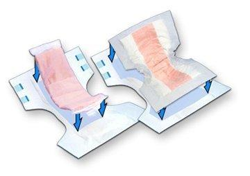 Incontinence Booster Pad TopLiner 32 Inch Length Heavy Absorbency Peach Mat Unisex Disposable 3097 BG/12