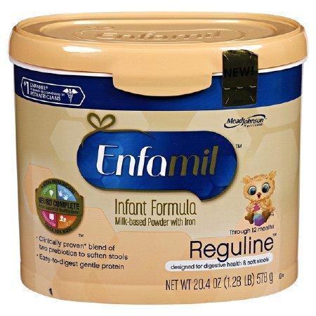Infant Formula Enfamil Reguline 12.4 oz. Canister Powder 167002 Case/6