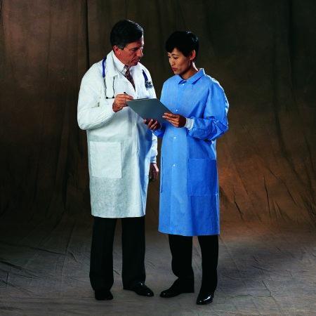 Lab Coat Basic Plus White X-Large Long Sleeve Knee Length 10123 Case/25