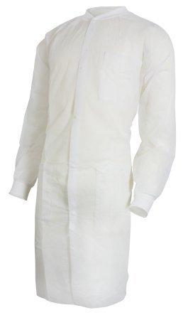 Lab Coat McKesson White Large to X-Large Long Sleeve Knee Length 34381200 Each/1