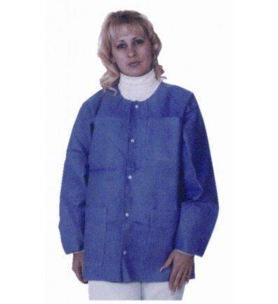 Lab Jacket Extra-Safe Blueberry Large Long Sleeve Hip Length 3630BBL Pack/10